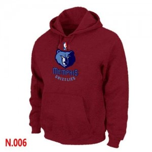 NBA Hoodie De Grizzlies Homme Rouge Pullover