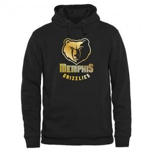 Sweat à capuche De Grizzlies Homme Noir Gold Collection Pullover
