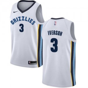 Nike Maillot Basket Allen Iverson Grizzlies Association Edition Blanc #3 Homme