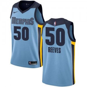 Nike NBA Maillot Basket Reeves Grizzlies Bleu clair Homme No.50 Statement Edition