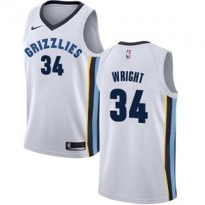 Nike Maillot De Basket Brandan Wright Memphis Grizzlies Blanc No.34 Homme Association Edition