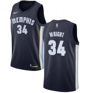 Nike Maillot De Basket Wright Grizzlies #34 Icon Edition bleu marine Homme