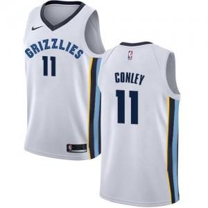 Nike Maillots Basket Mike Conley Grizzlies Enfant #11 Blanc Association Edition