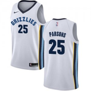 Maillots Chandler Parsons Grizzlies Enfant Nike No.25 Blanc Association Edition