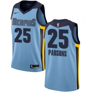 Nike NBA Maillot Basket Chandler Parsons Memphis Grizzlies #25 Enfant Bleu clair Statement Edition