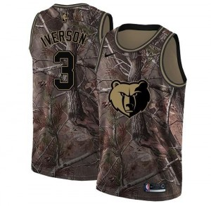 Nike NBA Maillot Basket Iverson Grizzlies Realtree Collection #3 Homme Camouflage