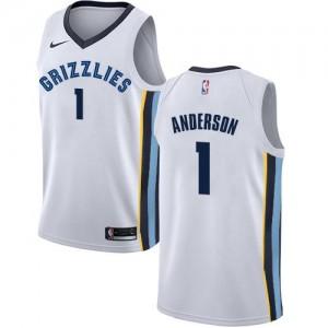 Nike Maillot De Basket Anderson Grizzlies #1 Association Edition Blanc Enfant
