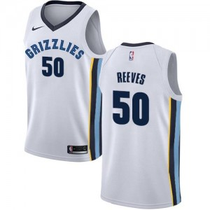 Maillots Basket Reeves Grizzlies Association Edition Blanc Nike Enfant #50