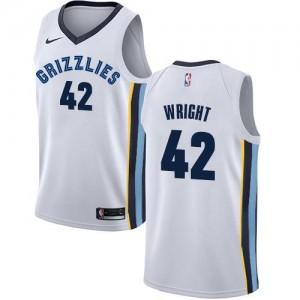 Maillot De Wright Memphis Grizzlies Association Edition #42 Blanc Nike Enfant