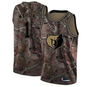 Nike Maillots Martin Grizzlies No.1 Camouflage Homme Realtree Collection