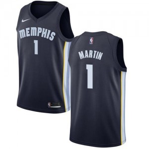 Nike Maillots De Martin Grizzlies #1 Icon Edition bleu marine Enfant