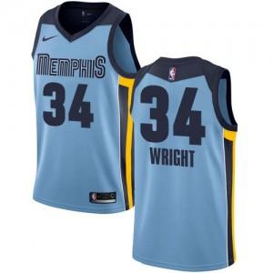 Nike Maillot Brandan Wright Grizzlies #34 Statement Edition Bleu clair Enfant