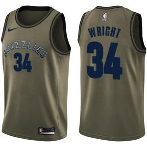 Nike NBA Maillots De Wright Memphis Grizzlies #34 Salute to Service Homme vert