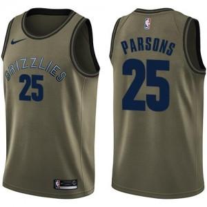Maillot Parsons Memphis Grizzlies vert Homme Nike Salute to Service #25