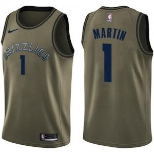 Maillot De Martin Grizzlies #1 Homme vert Salute to Service Nike