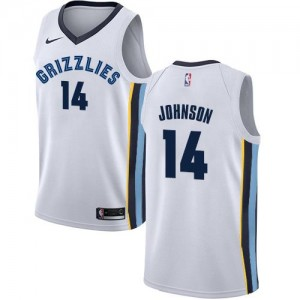 Nike Maillot Basket Brice Johnson Grizzlies Association Edition Blanc Homme #14