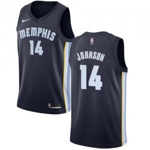 Maillot Johnson Grizzlies Icon Edition bleu marine No.14 Homme Nike