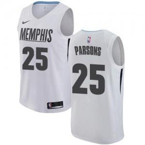 Nike Maillots Basket Parsons Grizzlies Blanc #25 City Edition Enfant