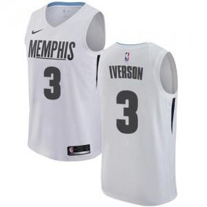 Nike NBA Maillots De Allen Iverson Memphis Grizzlies Blanc Enfant No.3 City Edition