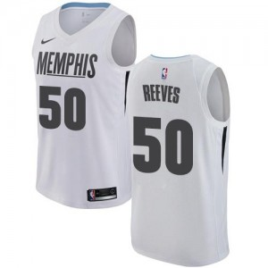 Nike Maillot Basket Bryant Reeves Grizzlies Homme City Edition #50 Blanc