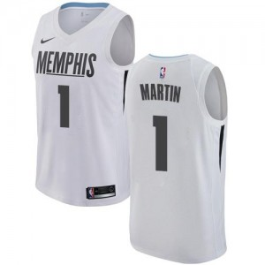 Maillots Martin Memphis Grizzlies City Edition Nike Blanc Homme #1