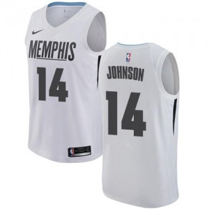 Maillots De Basket Brice Johnson Memphis Grizzlies Nike Homme Blanc #14 City Edition