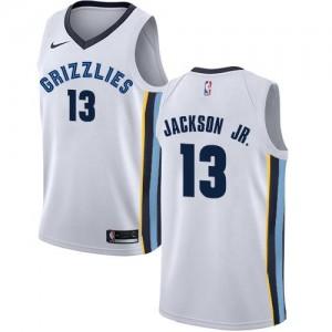 Maillots Basket Jaren Jackson Jr. Grizzlies Blanc Nike Association Edition Homme No.13