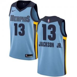 Nike NBA Maillot Basket Jackson Jr. Grizzlies Statement Edition Homme #13 Bleu clair