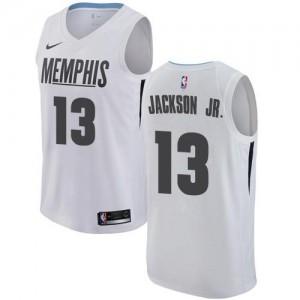 Maillots Basket Jaren Jackson Jr. Grizzlies No.13 City Edition Homme Blanc Nike