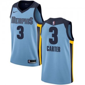 Nike Maillots Carter Grizzlies Statement Edition Bleu clair Homme No.3