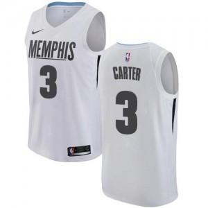 Maillot Jevon Carter Memphis Grizzlies Blanc Nike Homme No.3 City Edition