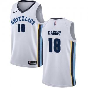 Nike Maillots De Basket Omri Casspi Grizzlies #18 Enfant Blanc Association Edition