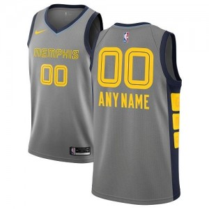 Maillot Personnalise Grizzlies Gris Enfant City Edition Nike