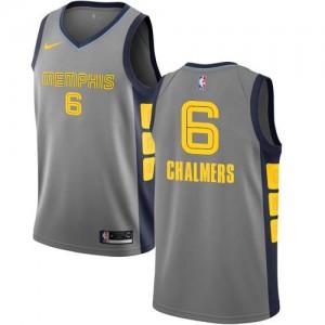Nike NBA Maillots De Mario Chalmers Grizzlies No.6 Enfant Gris City Edition