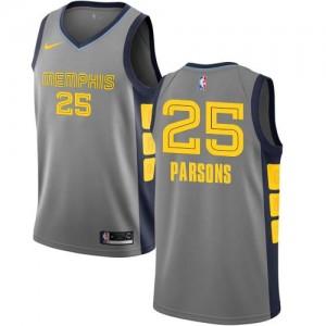 Maillot De Chandler Parsons Memphis Grizzlies No.25 Homme Gris Nike City Edition