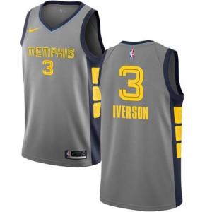 Nike NBA Maillot Basket Allen Iverson Memphis Grizzlies City Edition Gris Homme #3