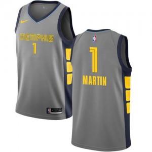 Nike Maillot De Jarell Martin Grizzlies Gris City Edition Homme No.1
