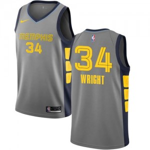 Nike Maillots Wright Memphis Grizzlies #34 City Edition Homme Gris