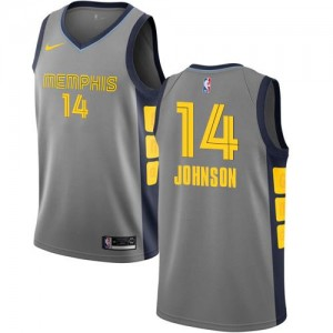 Maillot De Brice Johnson Grizzlies No.14 Nike Homme Gris City Edition