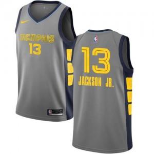 Nike NBA Maillot Basket Jackson Jr. Grizzlies Gris #13 City Edition Homme