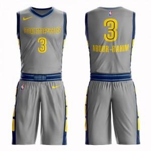 Maillot De Basket Shareef Abdur-Rahim Grizzlies Nike Homme Suit City Edition Gris #3