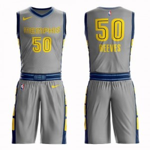 Nike NBA Maillots De Bryant Reeves Memphis Grizzlies Suit City Edition Enfant Gris No.50