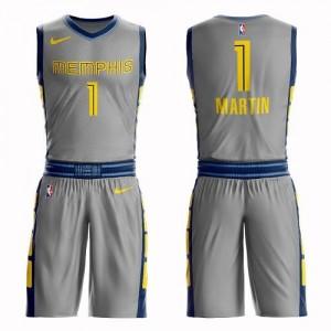 Maillots De Jarell Martin Grizzlies #1 Homme Gris Suit City Edition Nike