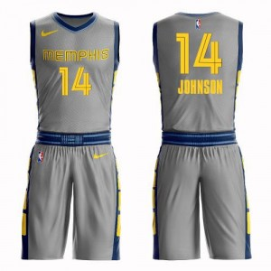 Nike NBA Maillots De Johnson Grizzlies #14 Suit City Edition Enfant Gris