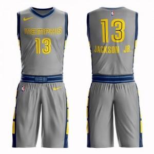 Maillot Basket Jaren Jackson Jr. Memphis Grizzlies Enfant No.13 Suit City Edition Gris Nike