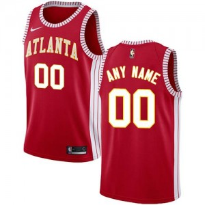 Nike NBA Personnalisable Maillot De Basket Hawks Statement Edition Rouge Homme