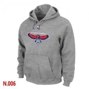 Hoodie Atlanta Hawks Homme Gris Pullover