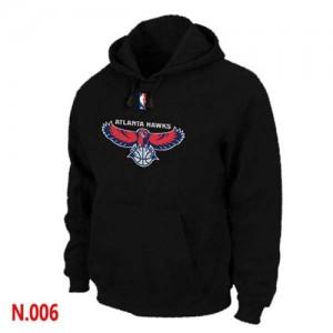Sweat à capuche Basket Atlanta Hawks Homme Pullover Noir