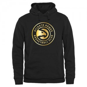 NBA Sweat à capuche Basket Hawks Noir Gold Collection Pullover Homme