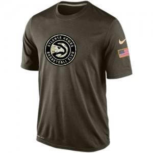 T-Shirt De Basket Hawks Nike Homme Olive Salute To Service KO Performance Dri-FIT